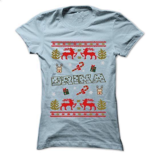 Christmas ERIKA ... 999 Cool Name Shirt ! - #raglan tee #tshirt customizada. BUY NOW => https://www.sunfrog.com/LifeStyle/Christmas-ERIKA-999-Cool-Name-Shirt-.html?68278