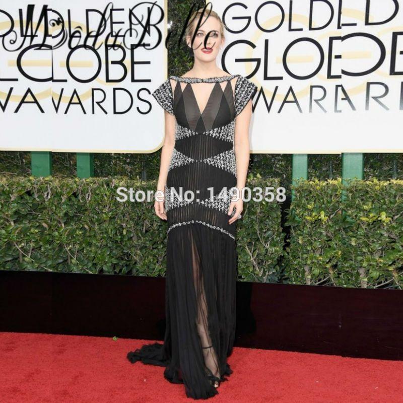 Roter Teppich-berühmtheit Kleider 74th Golden Globe Award Perlen ...