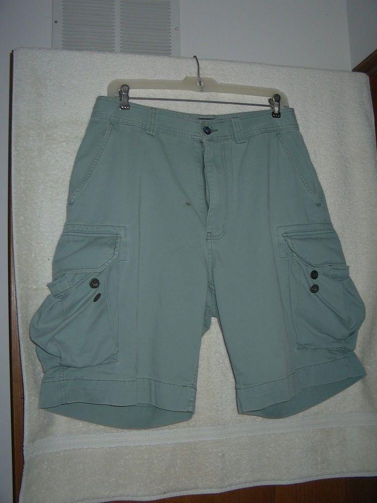 bb1326a05e Mens Ralph Lauren Polo Chino Cargo Shorts Green Teal 31 waist #fashion # clothing #