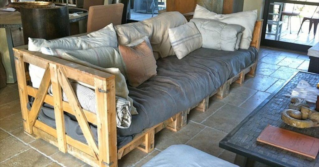 6 dise os de sof s hechos de palets muebles de palet - Sillones hechos de palets ...