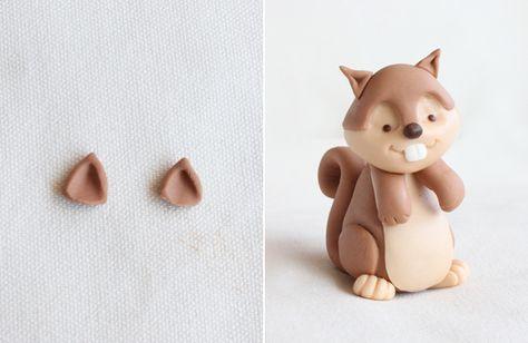 Modelado Paso A Paso De Una Ardilla Blog De Recetas De Repostería Fondant Animals Polymer Clay Crafts Polymer Clay Animals