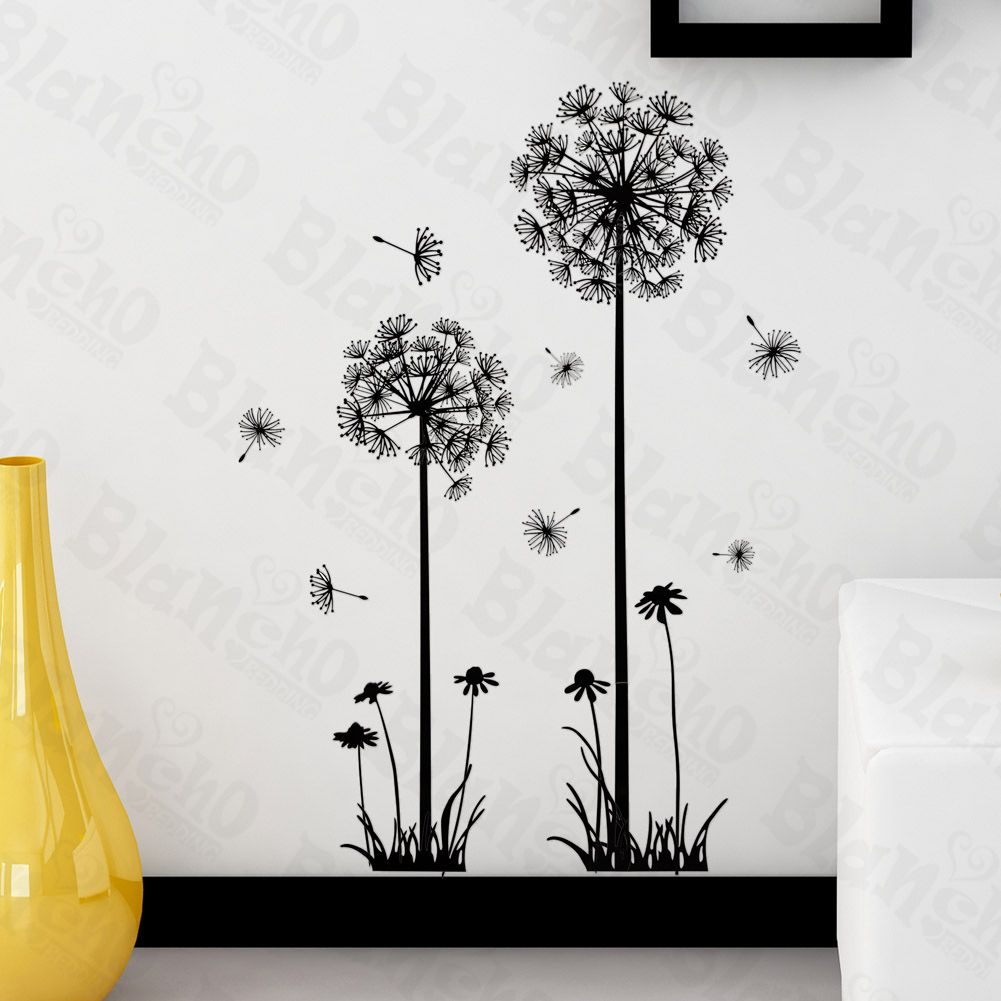 Wall Decor Stickers Stickers For Wall  Dandelion Blossom  Wall Decals Stickers