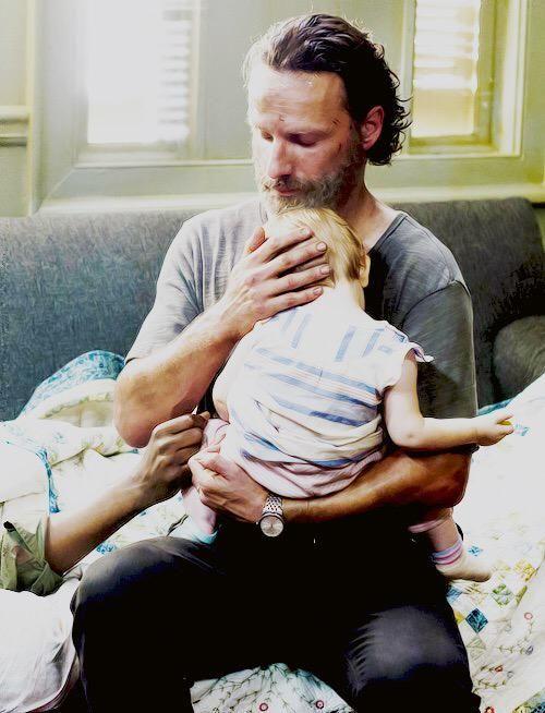 Rick and Judith Grimes #TheWalkingDead