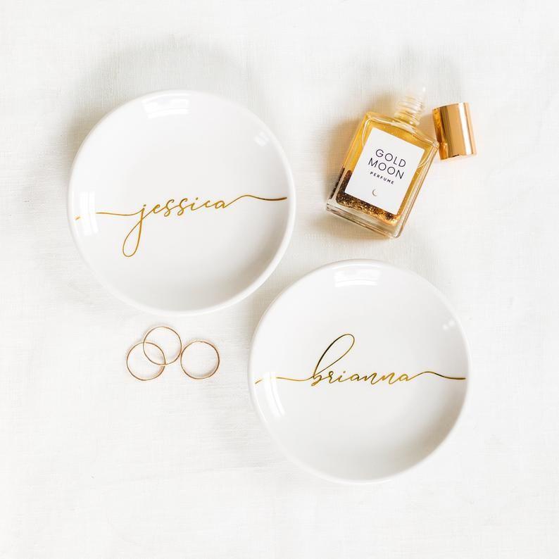 ring tray stocking stuffers Ring dish personalized bridesmaid gift wedding gift