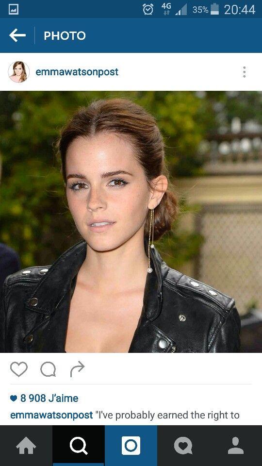 Perfecto noir cuir - sourcils - Emma Watson