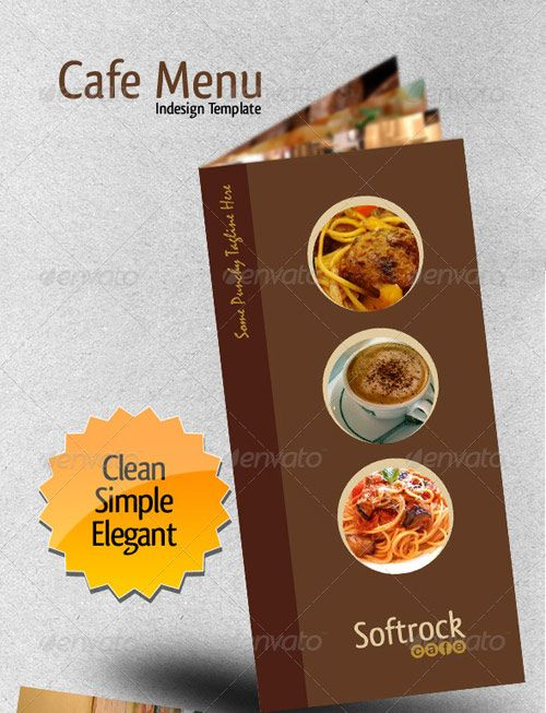 25 High Quality Restaurant Menu Design Templates Indesign - coffee shop brochure template