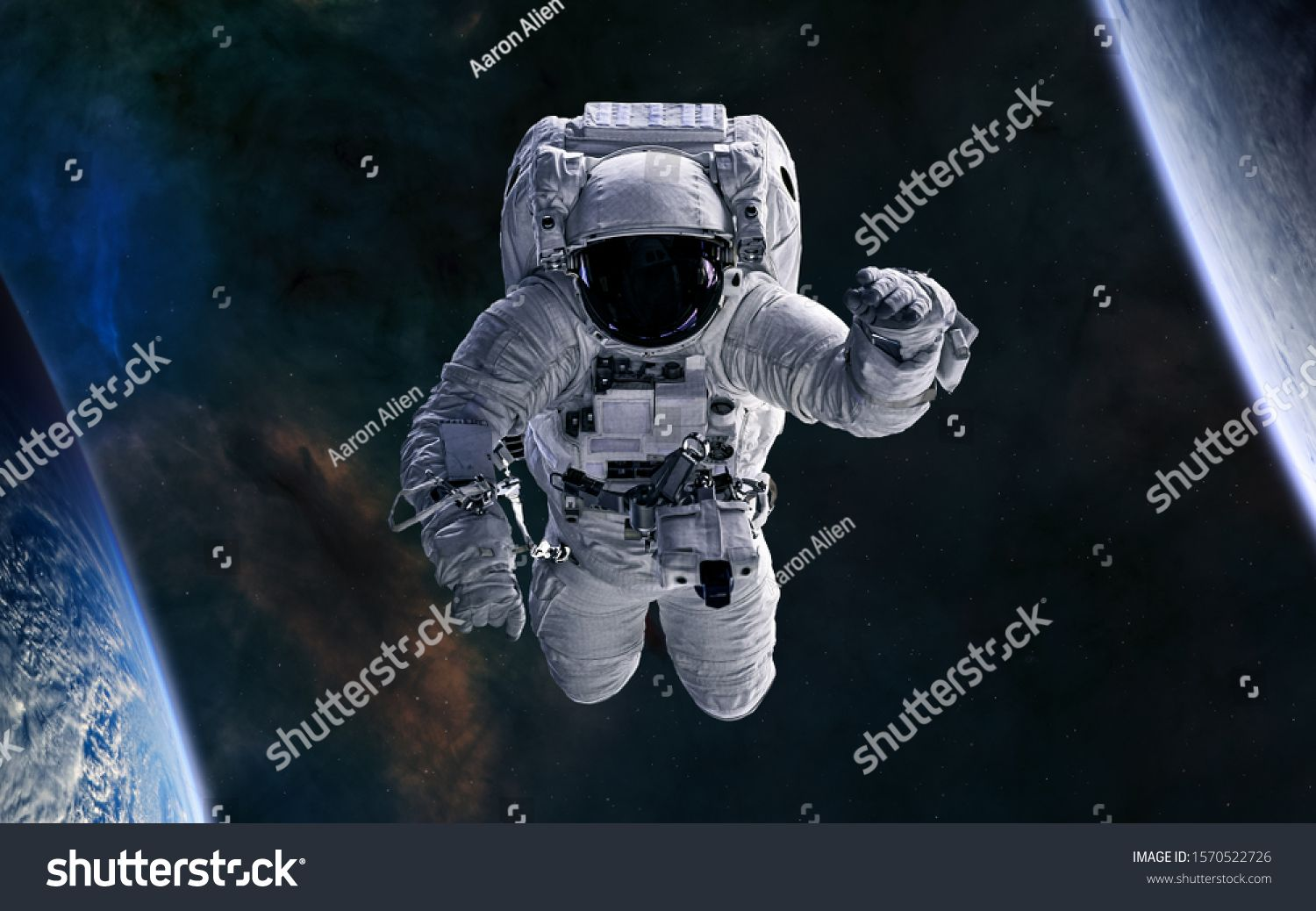 Astronaut In Open Space Science Fiction Elements Of This Image