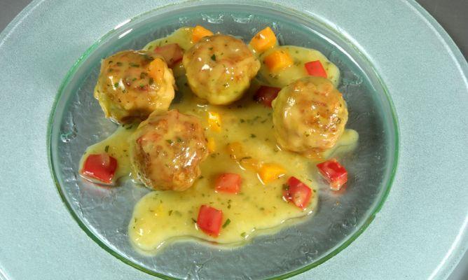 Albóndigas de pollo (Karlos Arguiñano)   Aves. Volailles   Receta ...