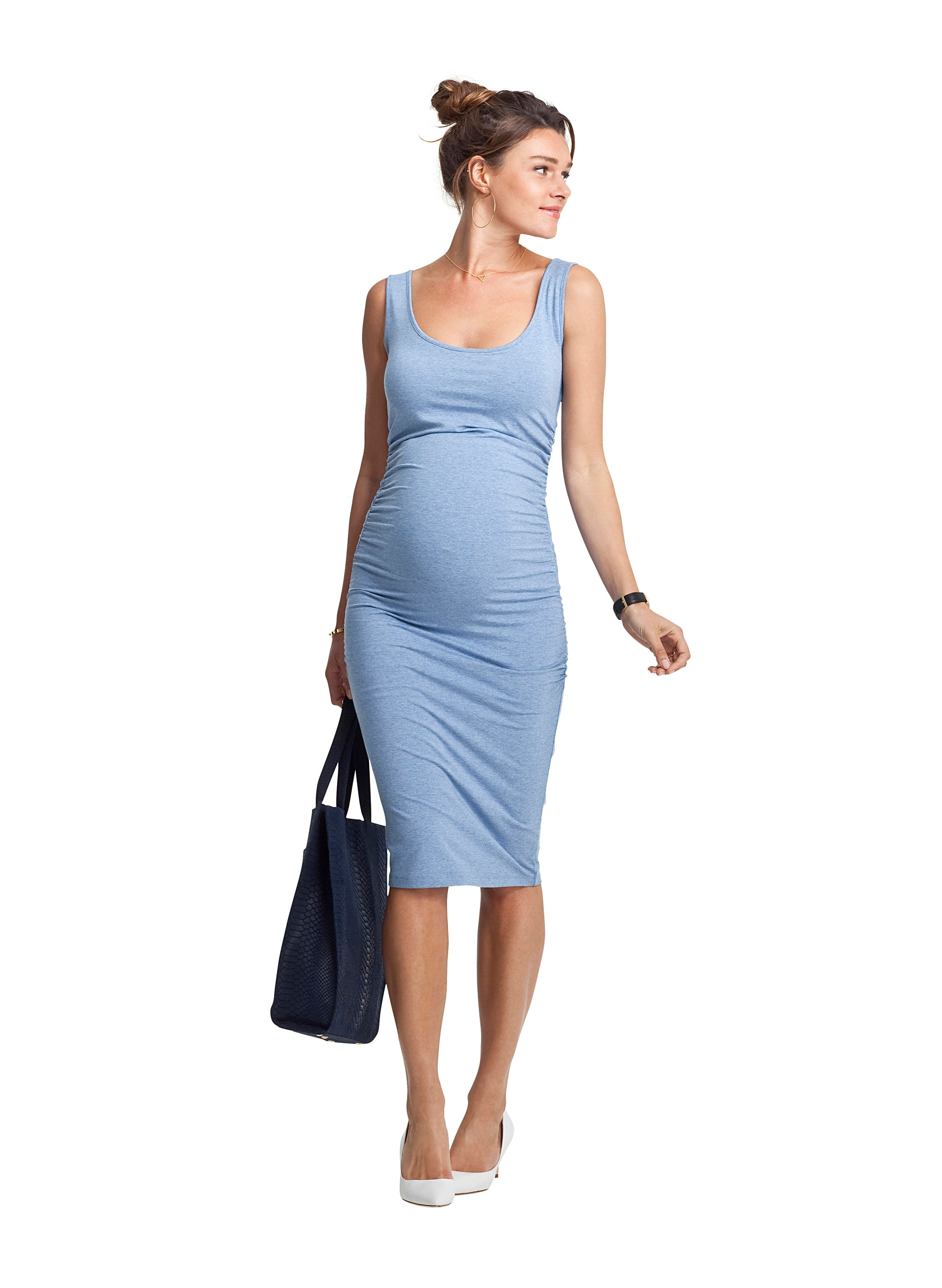 Ellis maternity tank dress tank dress pregnancy and maternity blue ellis maternity tank dress isabella oliver us ombrellifo Gallery