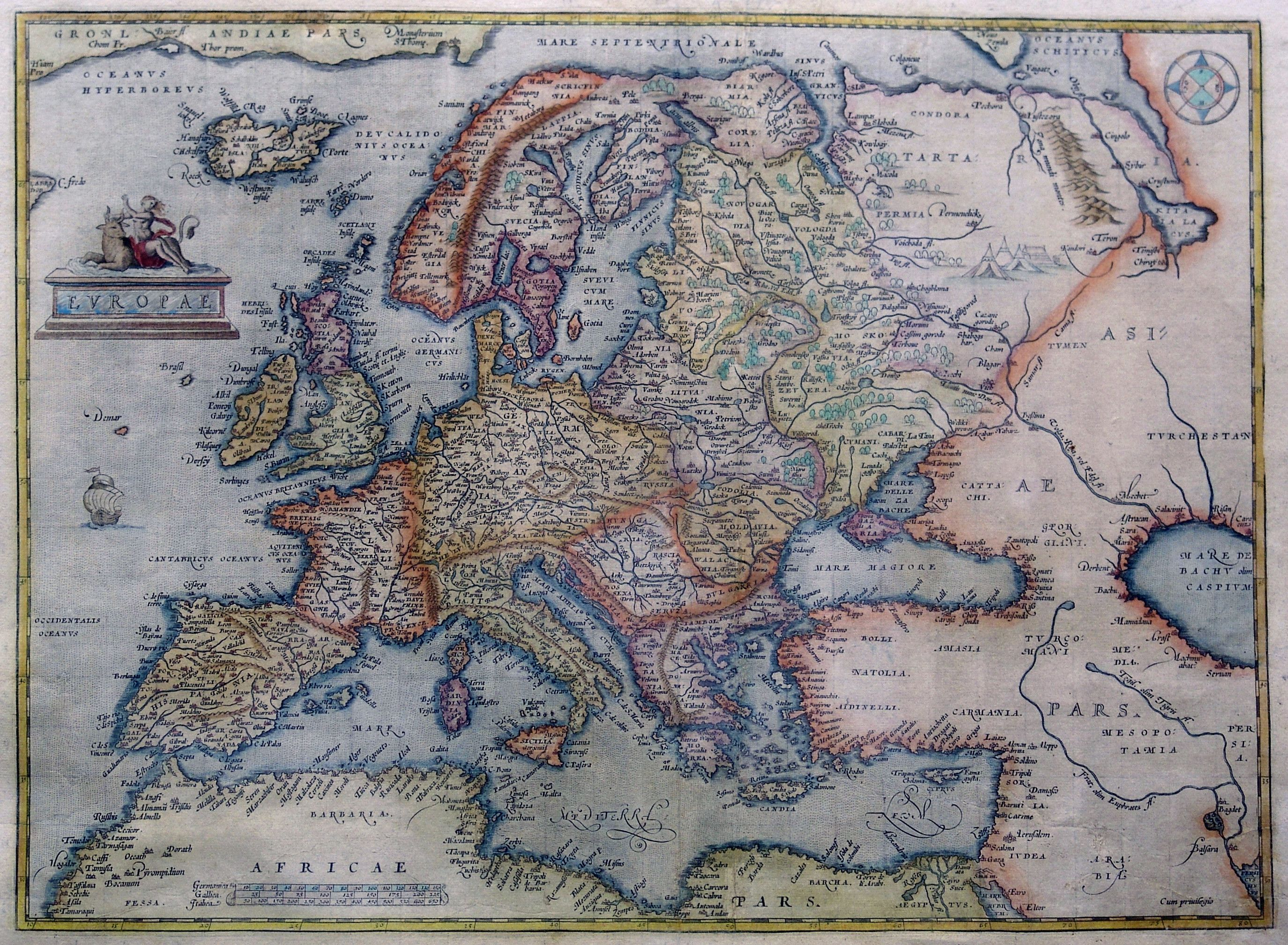 Royalty Free Map%0A Ortelius map of Europe