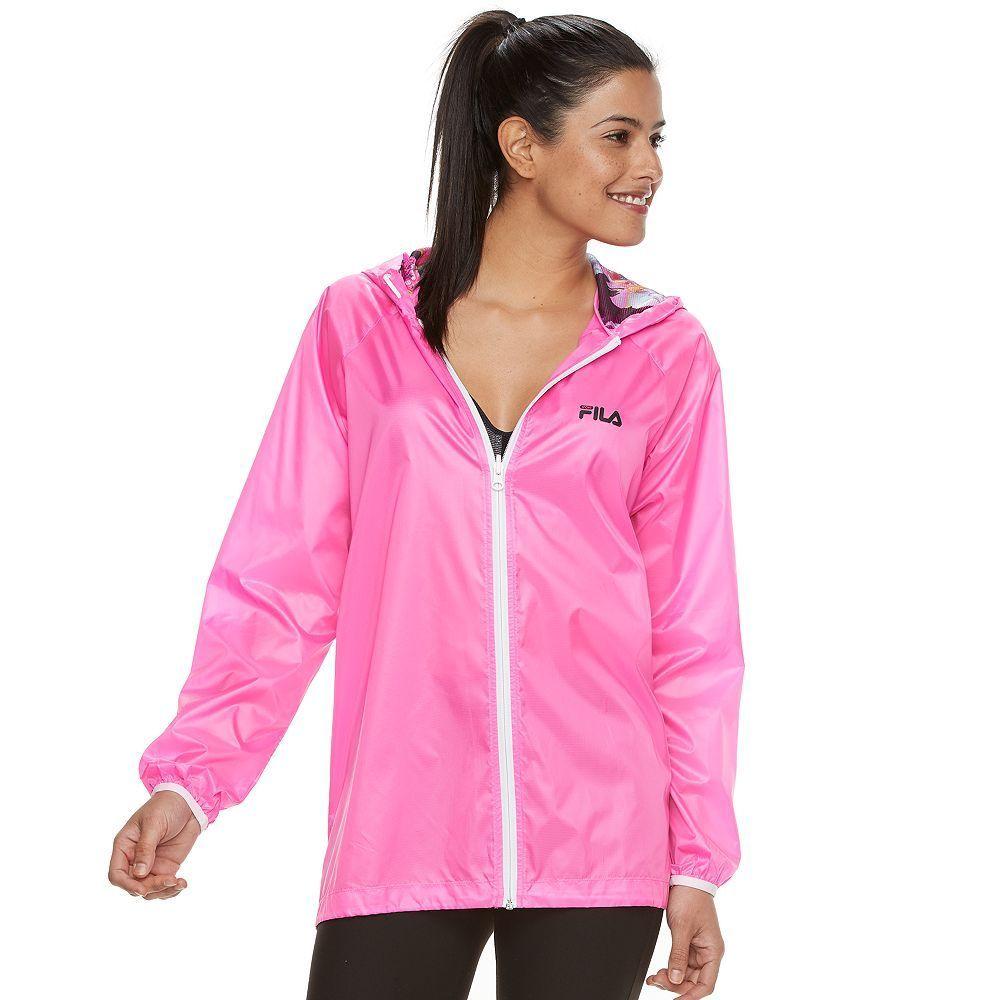a6a03bb0db7d Women's FILA Sport® Hooded Windbreaker Jacket, Size: Small, Brt Pink