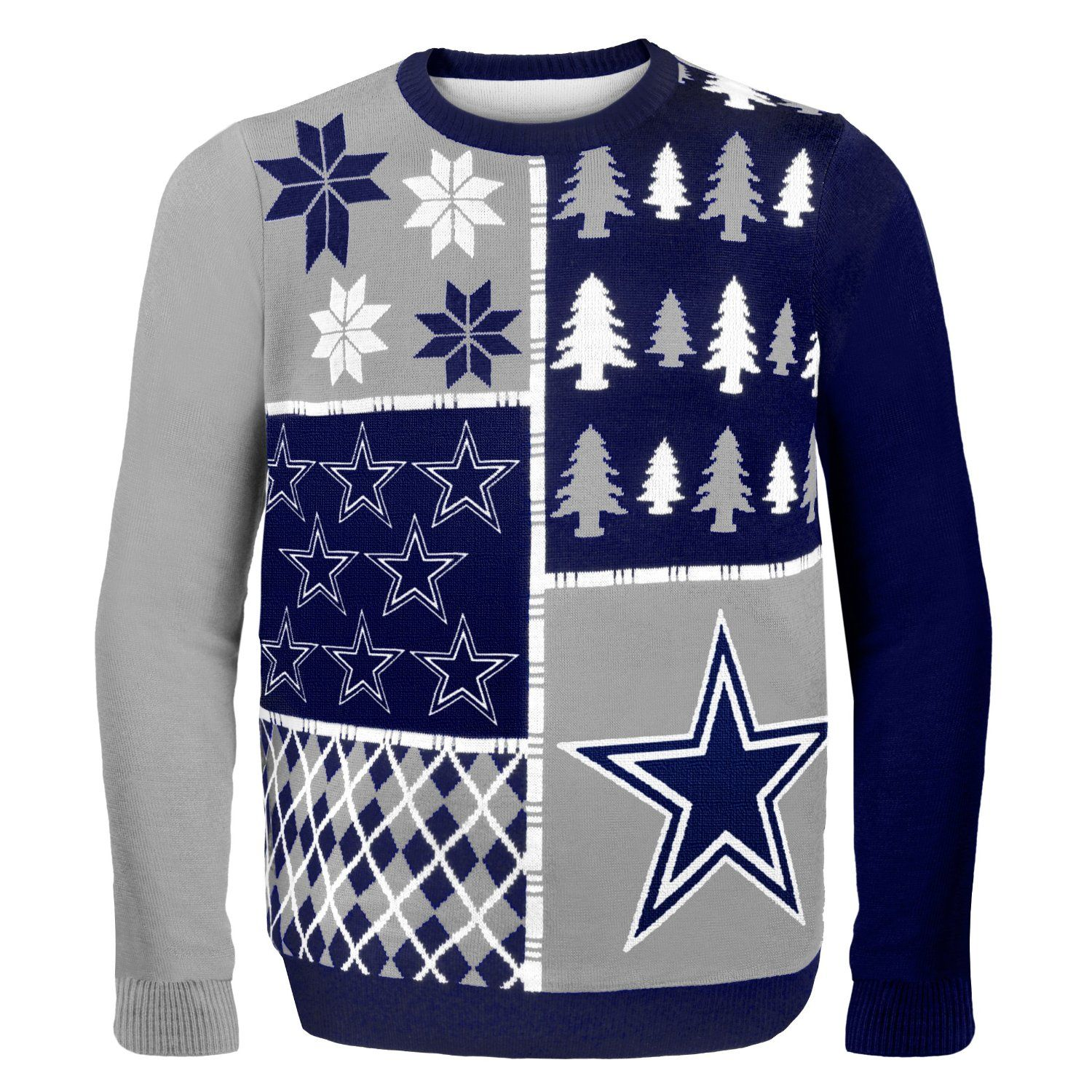detailed look e3b47 5a64e NFL Busy Block Ugly Sweater - Dallas Cowboys | NFL-NFC East ...