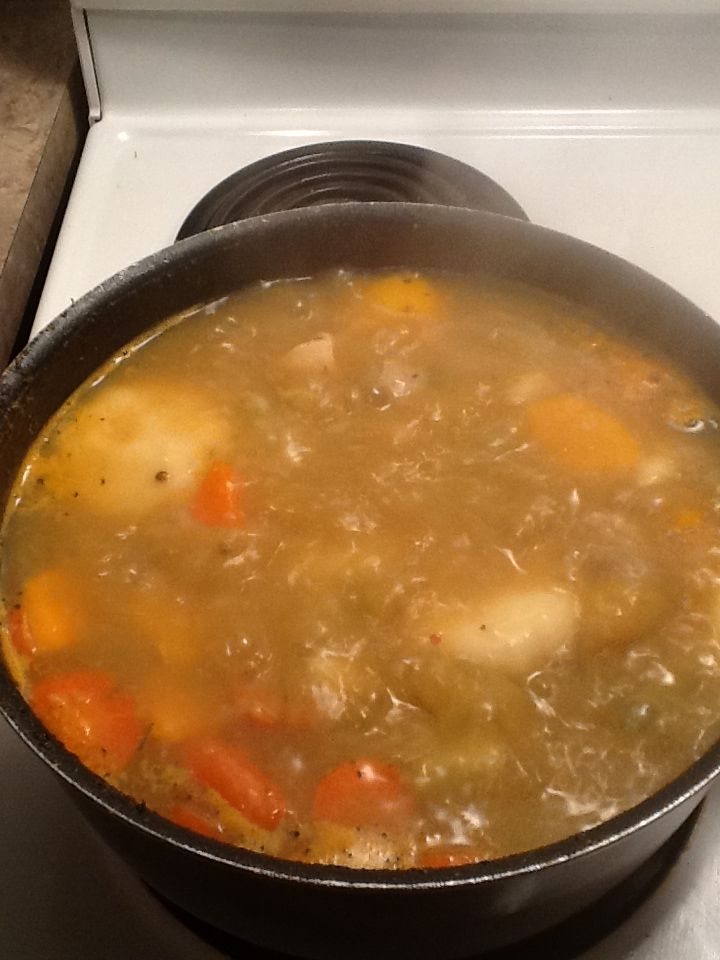 chicken soup jamaican style yes i know the dumplings are