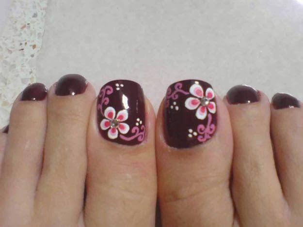 Lindos diseños de uñas para pies