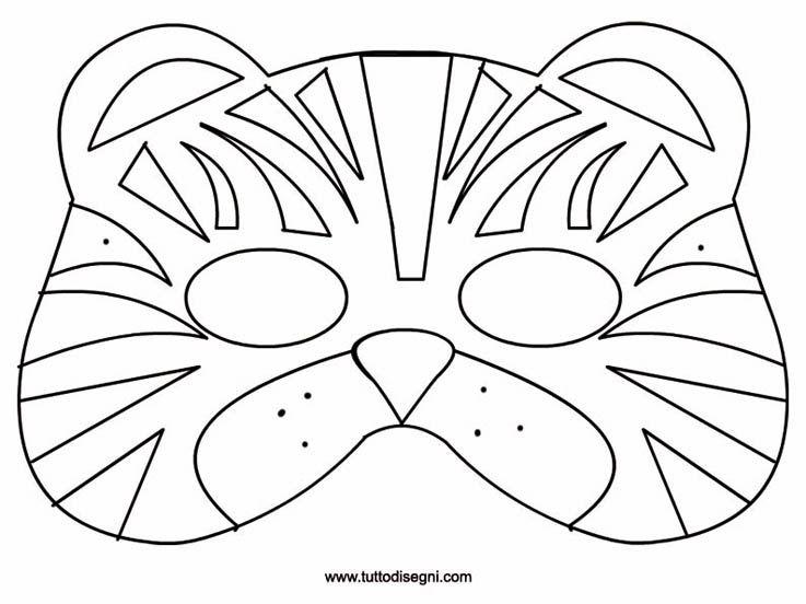Tiger mask website in a foreign language but it has for Maschere di animali di carnevale da colorare