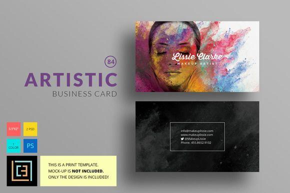 Artistic Business Card 84 Business Card Template Photoshop Business Card Photoshop Business Card Template