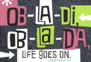 Greeting Birthday Card Beatles Ob La Di Ob La Da Life Goes On