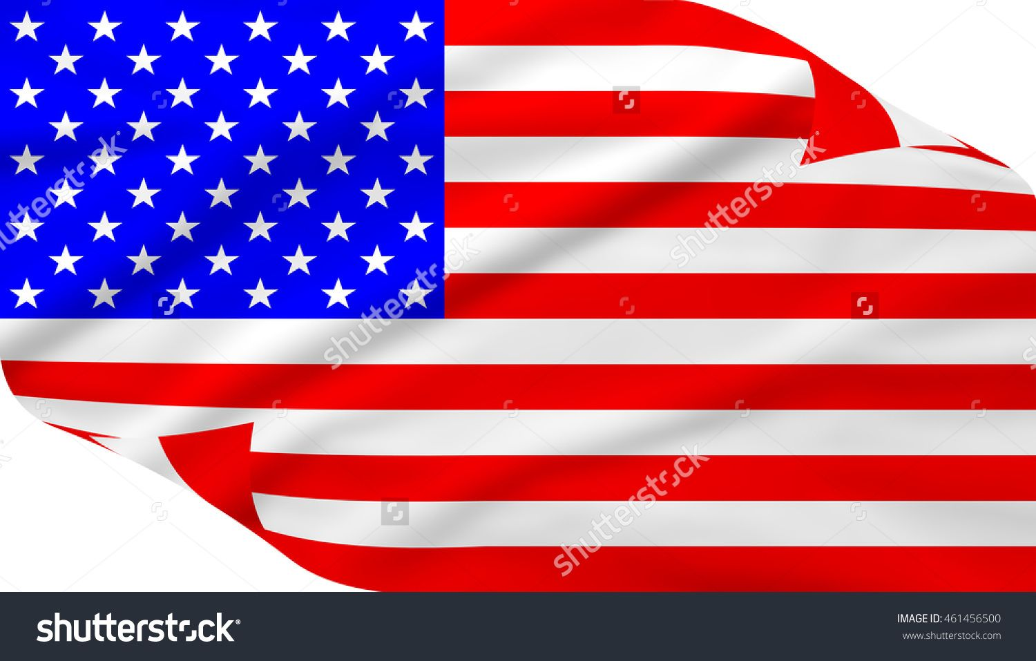 The Stars And Stripes Flag On White Background For United States Of America Stock Photo 461456500 Shutterstock