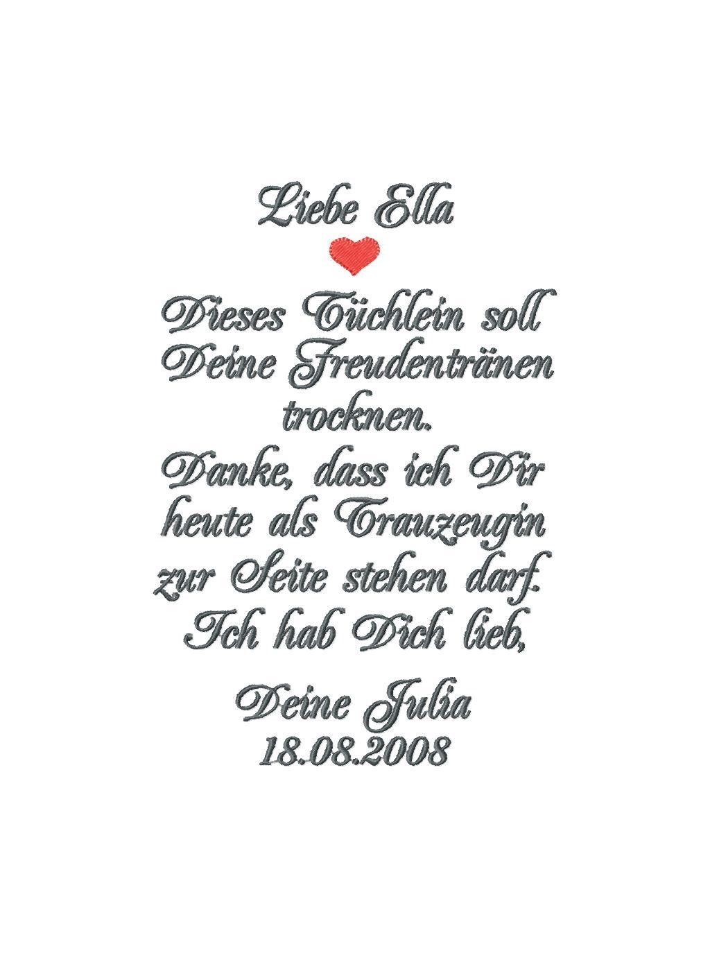 Taschentuch Freudentränen Braut Geschenk Von Der