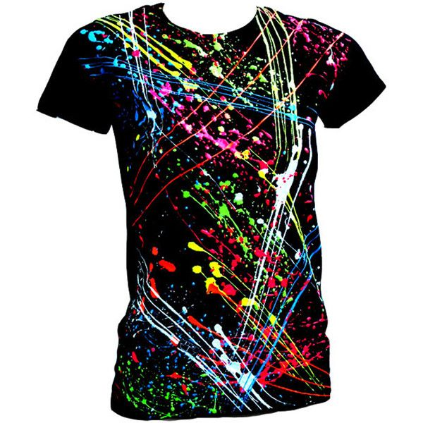 Pinning For Later I Could Probably Make A Similar Shirt Using Fabric Paint Or Fabric Spray Clothes Neon Shirts Glow Shirt
