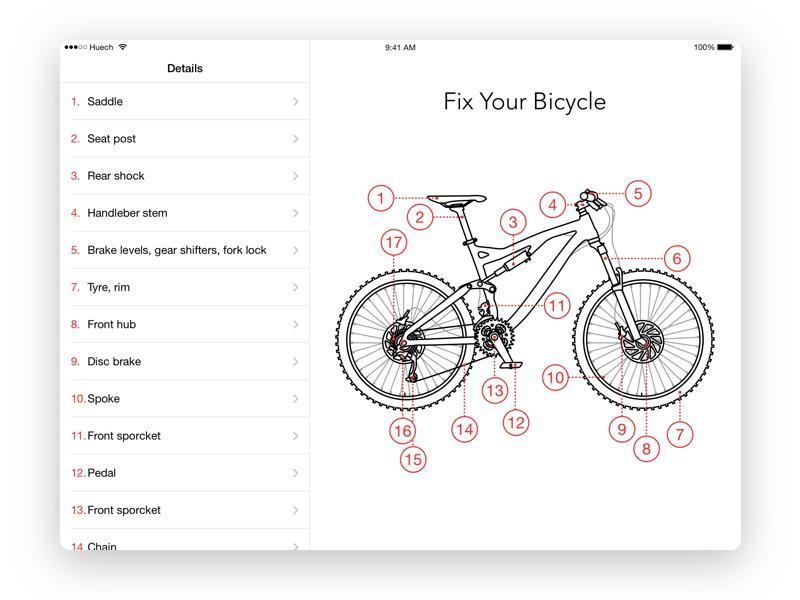 Fix Your Bike App iPad by Ivan Emelushkin