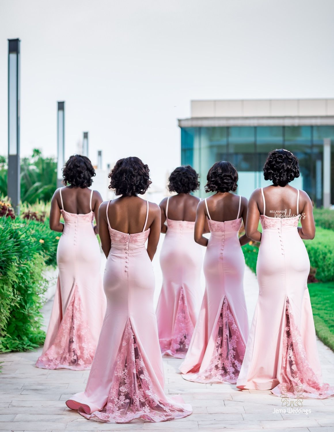 We Can T Get Enough Of The Anderclaude9 White Wedding In Ghana Beautiful Bridesmaid Dresses Bridesmaid Attire Couple Wedding Dress [ 1500 x 1160 Pixel ]