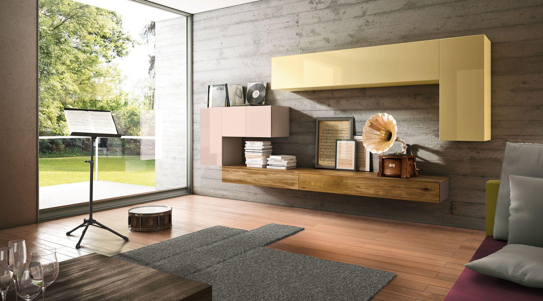 Sistema 36e8 living area painel de madeira painel e for Progettare un salone