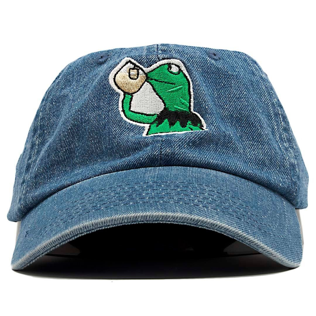 c23a39aae6e Kermit The Frog None of My Business Though Dad Hat Baseball Cap ...