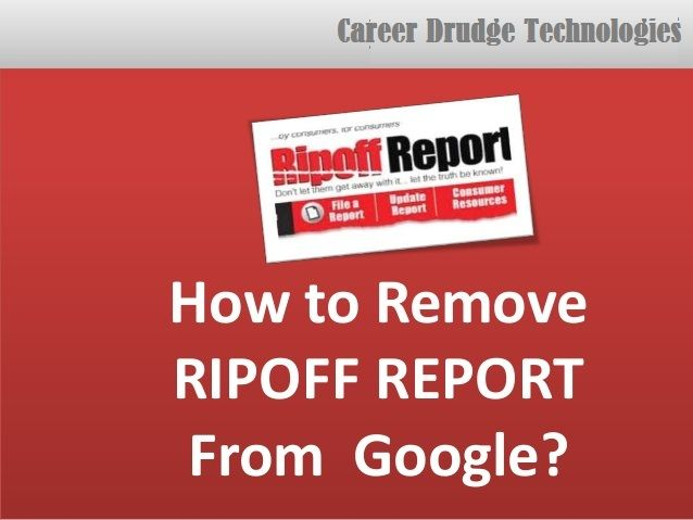 4 Reasons To Hire Removal Services For Taking Down Ripoff Reports