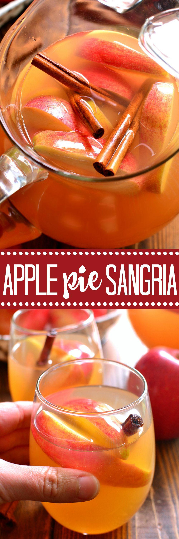 Apple Pie Sangria Recipe Apple Pie Sangria Fall Drinks Thanksgiving Drinks