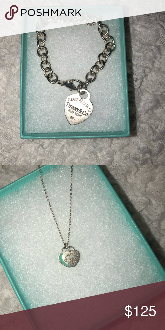 36e591d28e371 Heart tag charm bracelet & Tiffany blue necklace Used Tiffany jewelry. Need  GONE ASAP ! X posted on Facebook Comment best offer ! :) Tiffany & Co.  Jewelry ...