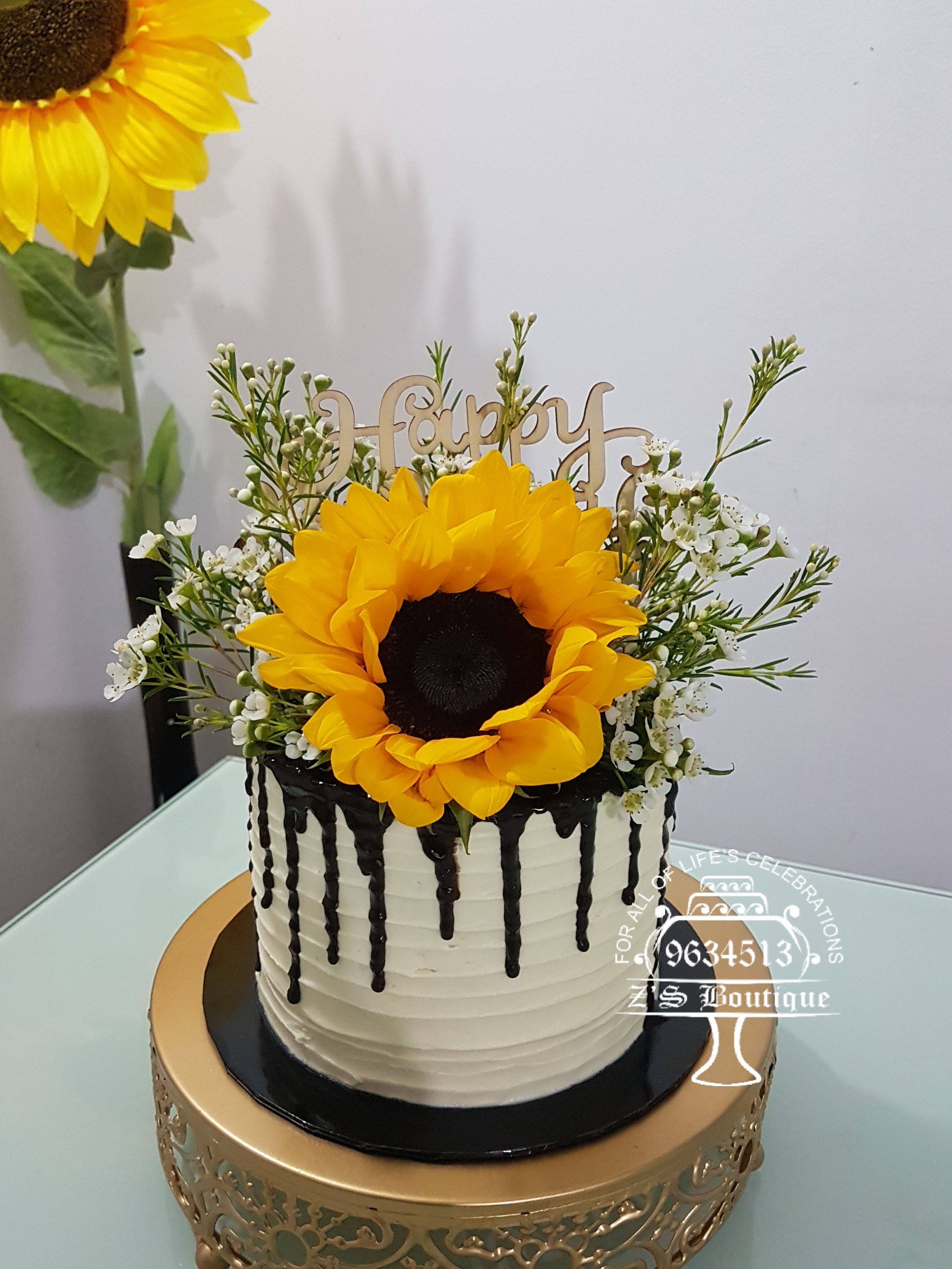 Enjoyable Sunflower Cake Its Money Pulling Cake Too For Orders Call Funny Birthday Cards Online Necthendildamsfinfo