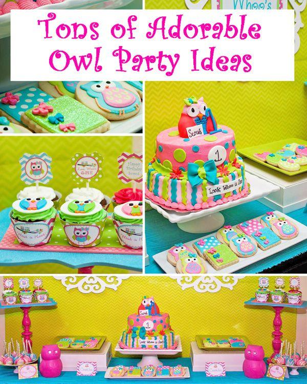 Owl Party Ideas - Owl Birthday Party