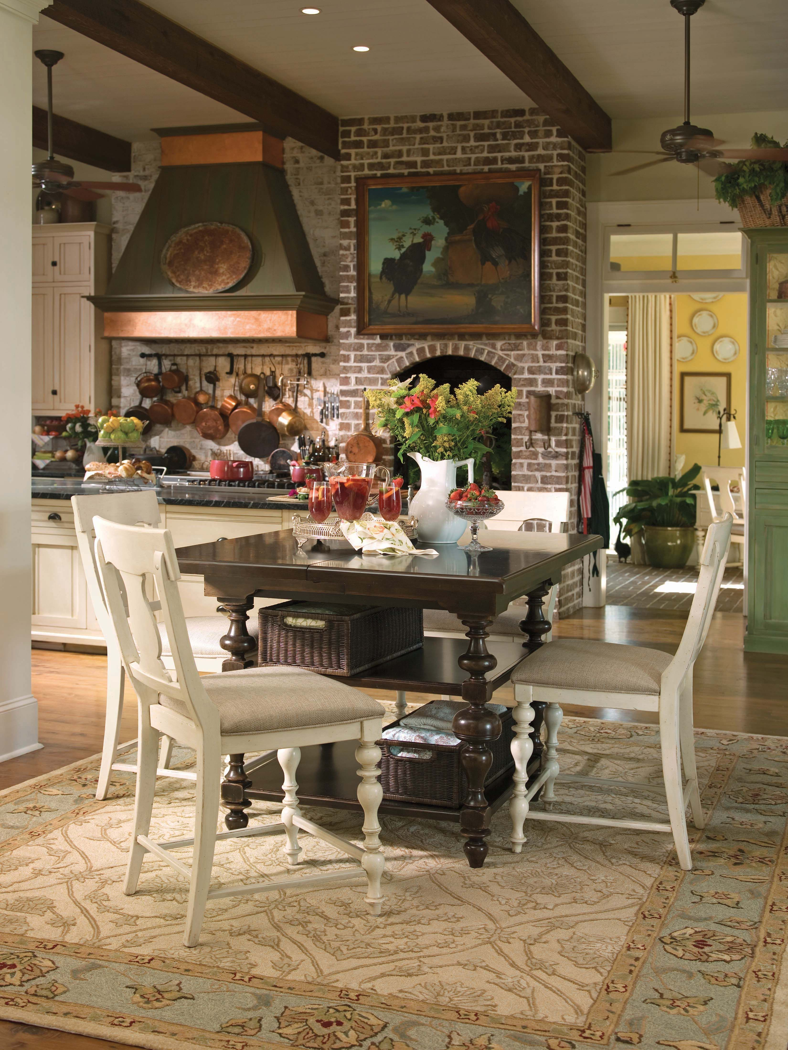 Paula Deen Home Collection Kitchen Gathering Table And Counter Entrancing Paula Deen Dining Room Set Decorating Design