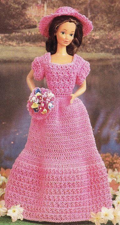Vintage Crochet Barbie Dress Toy Outfit | doll stuff | Pinterest ...