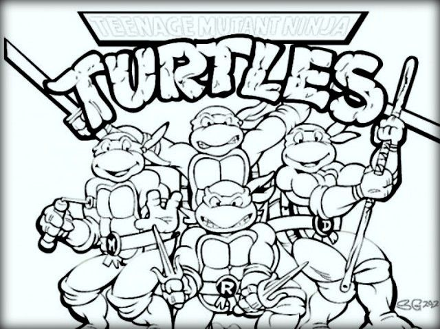 Top 10 Ninja Turtles Coloring Pages For Kids Con Imagenes