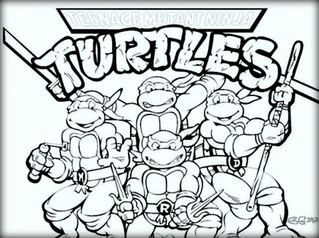 Las 10 mejores páginas para colorear Tortugas Ninja para niños ...