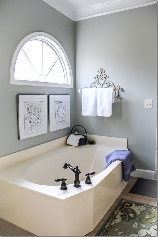 Bathroom Paint Color Silver Sage By Restoration Hardware Rooms Reference