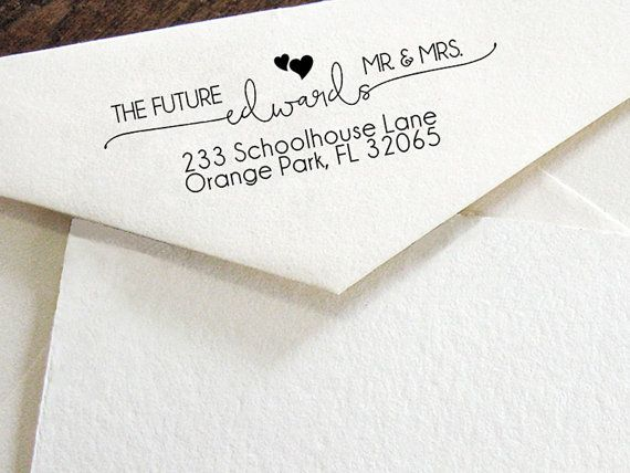 Personalized SELF INKING Wedding Stationery Stamper Save The Date Stamp Custom Address