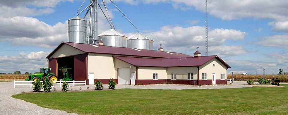 Farm building profile use farm office with utility for Farm house construction