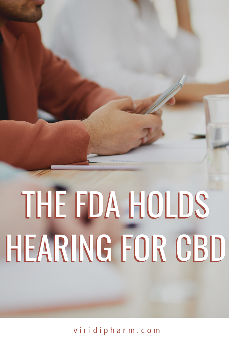 The FDA Holds Hearing For CBD (With images) Electronic