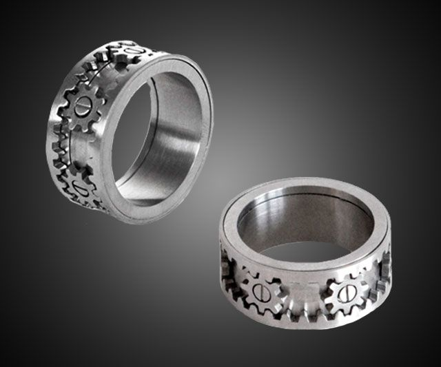 Kinekt Moving Gear Ring Man Wedding Bandsmen
