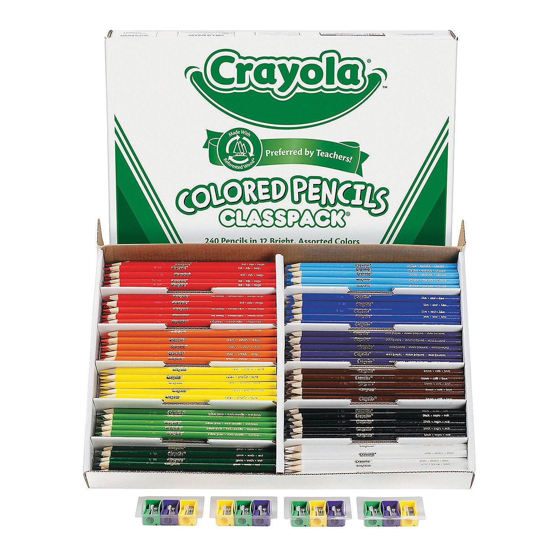 12 Color Crayola Colored Pencils Classpack 240 Pc Crayola