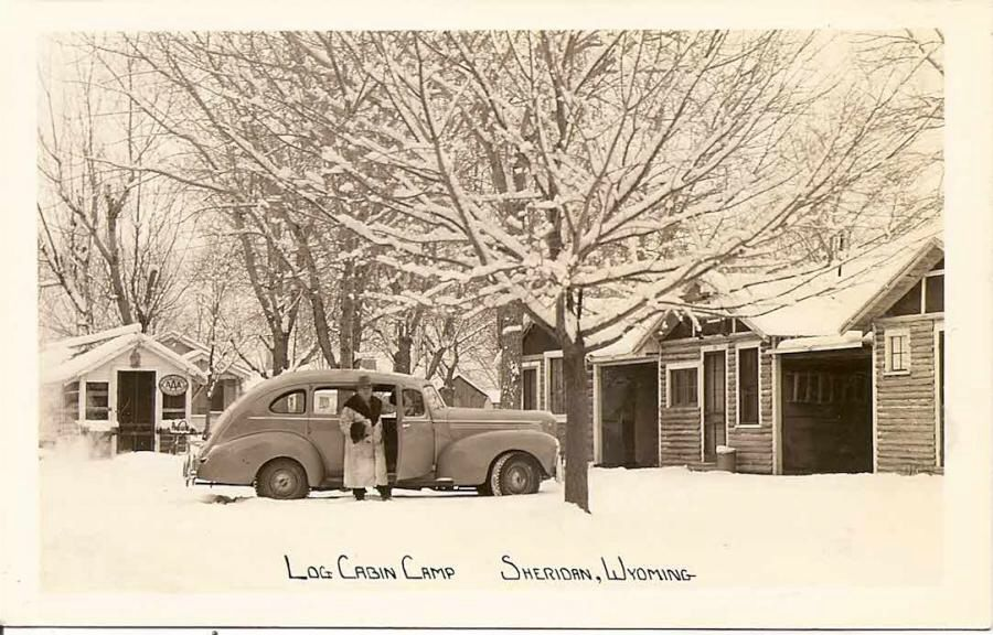 James Land Company Item: 0000000218 -- Cabin In The Snowy ...  Old Log Cabins Wyoming