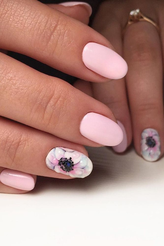 30 Cute Nail Design Ideas For Stylish Brides ❤ See more:  http://www.weddingforward.com/nail-design/ #wedding #nails - 30 Cute Nail Design Ideas For Stylish Brides Pinterest Pedicure