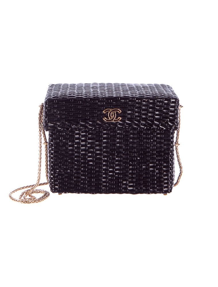 Rare appearance  Chanel Wicker Shoulder Bag. (TheRealReal.com ... 1d3c21bb53326