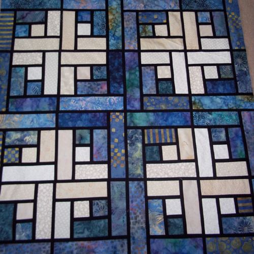 Stained Glass Log Cabin Quilt Pattern (Quilting Patterns and ... : log cabin quilt pattern free download - Adamdwight.com
