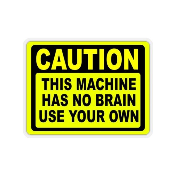 Yellow WARNING SNAP ON  MAC TOOLS Vinyl Decal Caution Novelty Sticker