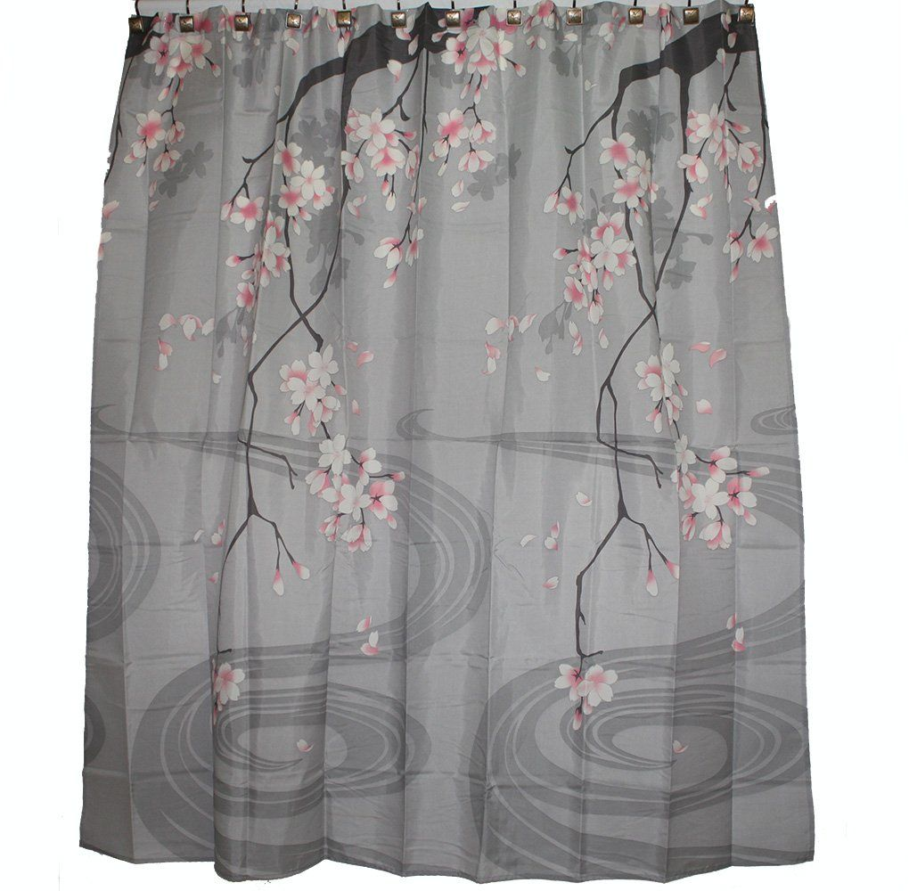 Traditional Japanese Cherry Blossom Art Shower Curtain | Shower ...