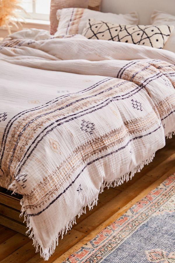 Shea Printed Gauze Duvet Cover Bedroom Bedding Sets Bed Comforter Sets Comforter Sets